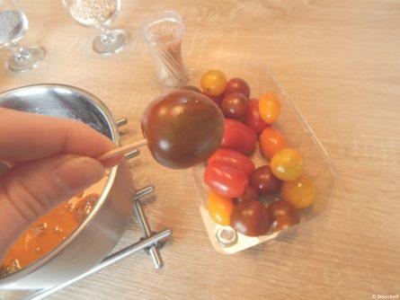 Des sucettes de tomates cerises   Booccinell